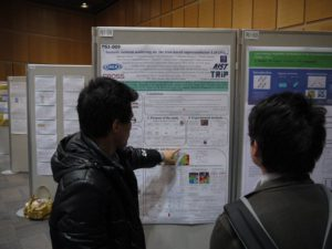 Scenes of the conference poster hall